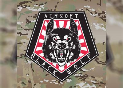 Logo black wolf
